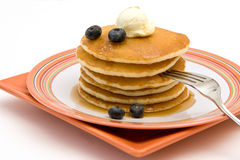 Pancakes. Delicious Hot Pancakes With Blueberries Stock Photography
