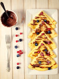 Pancakes from above Royalty Free Stock Photography