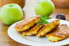 Pancakes with apples Stock Photos