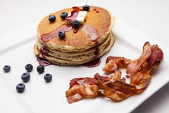 Pancakes with Bacon Stock Photos
