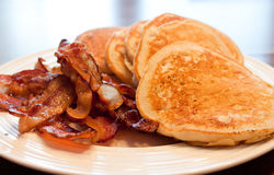 Pancakes and Bacon Royalty Free Stock Images