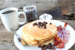 Pancakes and Bacon Royalty Free Stock Photo