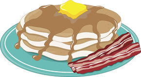 Pancakes Bacon Stock Images