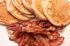 Pancakes and Bacon Royalty Free Stock Photos