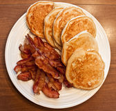 Pancakes and Bacon Stock Photos