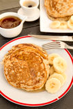 Pancakes with banana Royalty Free Stock Photography