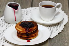 Pancakes. Bar of soap and coffee beans royalty free stock images