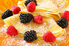 Pancakes with berries Royalty Free Stock Photo