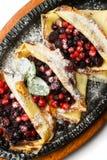 Pancakes with berries Stock Photos