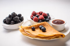 Pancakes and Berries Royalty Free Stock Image