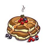 Pancakes Berries On White Royalty Free Stock Photo