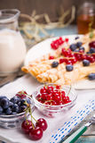 Pancakes with berry Royalty Free Stock Photos