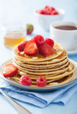 Pancakes with berry and honey Royalty Free Stock Photo