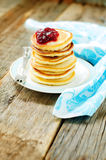 Pancakes with berry jam Royalty Free Stock Photography