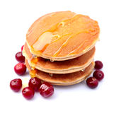 Pancakes with berry Royalty Free Stock Photo