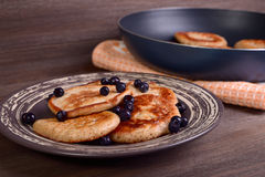 Pancakes with bilberry Stock Image