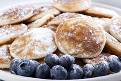 Pancakes and Blueberries Royalty Free Stock Photo