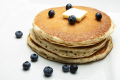 Pancakes with Blueberries Royalty Free Stock Image