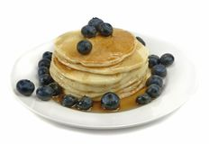 Pancakes and Blueberries Royalty Free Stock Photography