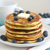 Pancakes with blueberries Royalty Free Stock Images