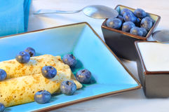 Pancakes with blueberries Stock Image