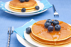 Pancakes with blueberry. For breakfast Royalty Free Stock Photo