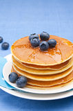 Pancakes with blueberry Royalty Free Stock Image