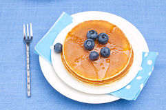 Pancakes with blueberry. For breakfast Royalty Free Stock Image
