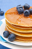 Pancakes with blueberry Stock Image