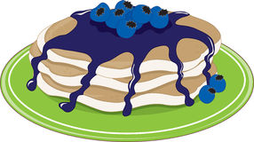 Pancakes Blueberry Royalty Free Stock Images