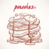 Pancakes with blueberry Stock Photos