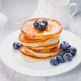 Pancakes with blueberry Stock Images