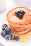 Pancakes with blueberry Royalty Free Stock Photos