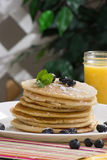 Pancakes for breakfast Royalty Free Stock Photos