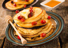 Pancakes breakfast Stock Images