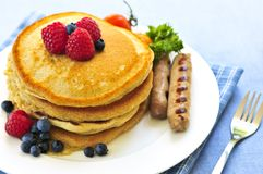 Pancakes breakfast Royalty Free Stock Photos