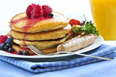 Pancakes breakfast Stock Photo