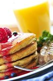 Pancakes breakfast Royalty Free Stock Images