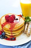 Pancakes breakfast Royalty Free Stock Photo