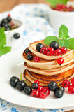 Pancakes for breakfast Stock Photo