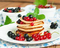 Pancakes for breakfast Stock Images