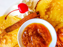 Pancakes breakfast Stock Photos
