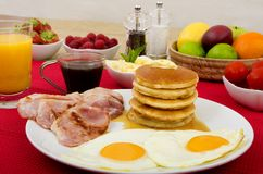 Pancakes Breakfast Stock Photography