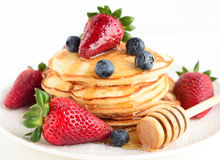 Pancakes for breakfast Stock Photos