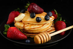 Pancakes for breakfast Royalty Free Stock Images