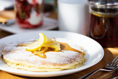 Pancakes for breakfast Royalty Free Stock Image