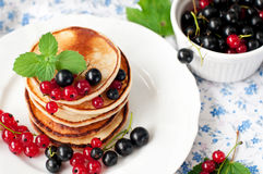 Pancakes for breakfast Stock Photo