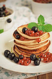 Pancakes for breakfast Royalty Free Stock Photo
