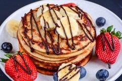 Pancakes for brekki stock images
