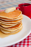 Pancakes With Butter and Maple Syrup Royalty Free Stock Image